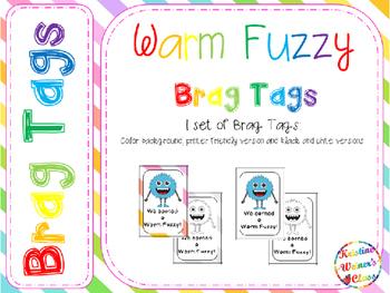 BRAG TAGS: Warm Fuzzy {Freebie}