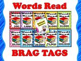 BRAG TAGS: Words Read