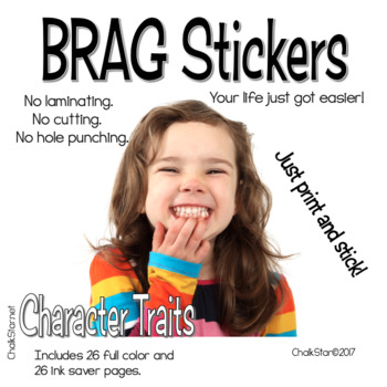 BRAG Tag Stickers Character Building