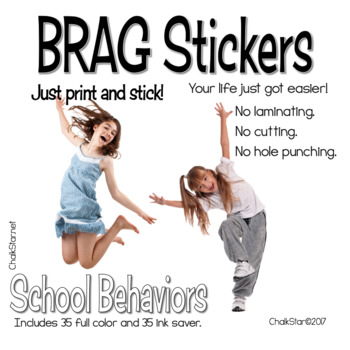 Brag Tag Stickers™ Motivational