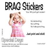 BRAG Tag Stickers Holidays