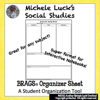 BRAGS Graphic Organizer for ANY TOPIC! Brainstorm, Read, Anticipate, Graph, Sum