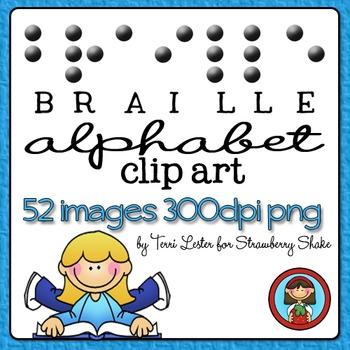 BRAILLE Alphabet Clip Art Set - 52 images