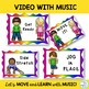 """Brain Break:""""MOVE YOUR BODY"""" Video with Music for Music, PE, Dance, Classroom"""