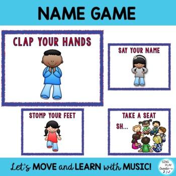 """Freebie: Brain Breaks, Movement Cards: """"FEEL THE BEAT"""" & """"TAKE A SEAT"""""""