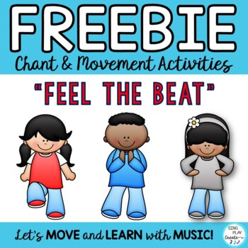 "Freebie: Brain Breaks, Movement Cards: ""FEEL THE BEAT"" & """