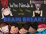 BRAIN BREAKS~28 Quick~Engaging~Movement~Dancing~QR Codes or Projector for class