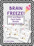 BRAIN FREEZE! CVC and MAGIC E Card Game Bundle