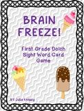 BRAIN FREEZE! First Grade Dolch Sight Words FREEBIE