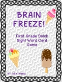 BRAIN FREEZE! First Grade Dolch Sight Words FREEBIE