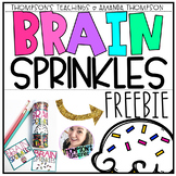 BRAIN SPRINKLES a test taking FREEBIE