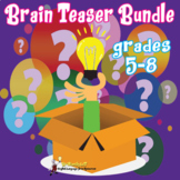 BRAIN TEASER AND BRAIN BREAKS MYSTERIES MIDDLE SCHOOL BUNDLE