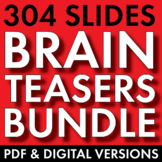 BRAIN TEASERS 4-Pack Bundle, Logic, Word Sense, Puzzles, Lateral Thinking – Fun!