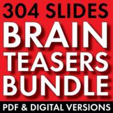 BRAIN TEASERS 4-Pack Bundle, Logic, Word Sense, Puzzles, L