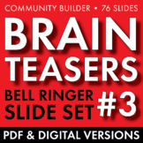 BRAIN TEASERS VOL. 3 – Logic, Word Sense, Puzzles, Lateral Thinking – Fun Stuff
