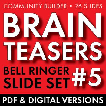 BRAIN TEASERS VOL. 5 – Logic, Word Sense, Puzzles, Lateral Thinking – Fun Stuff