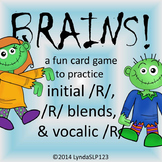 BRAINS!! Articulation Games for initial /R/, vocalic /R/, /R/ blends