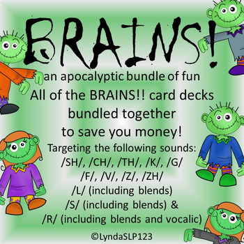 BRAINS!! an apocalyptic bundle of BRAINS!! card decks (articulation practice)