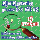 BRAINTEASERS MYSTERY STORIES FOR MIDDLE SCHOOL #2: + mystery writing assignment
