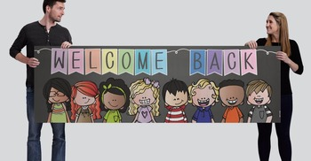 BRAINY BUNCH - Classroom Decor: X-large BANNER, Welcome BACK