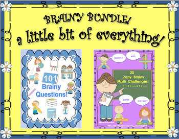 BRAINY BUNDLE!  a little bit of everything!  Math  Social Studies  Science  ELA