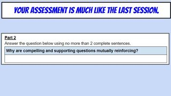 C3 Develop / Construct Supporting / Guiding Questions