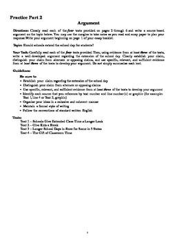 BRAND NEW Common Core Regents Exam ELA English Part 2 Practice