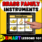BRASS FAMILY INSTRUMENT BOOM CARDS™ Music Distance Learnin