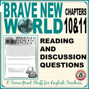 BRAVE NEW WORLD Chapters 10 and 11 Activities for Comprehension and Analysis