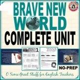 BRAVE NEW WORLD Comprehensive No-Prep Unit Bundle FORMAL AND CREATIVE ACTIVITIES