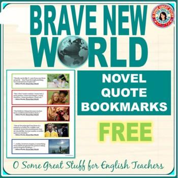 BRAVE NEW WORLD FREE BOOKMARKS