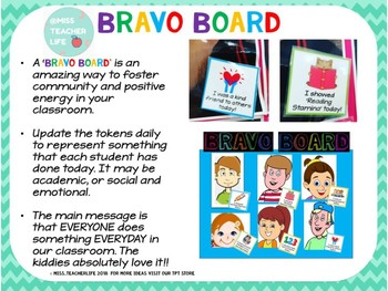 BRAVO BOARD! Build Classroom Community with Compliments!