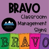 BRAVO General Music Classroom Management Posters