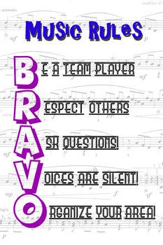 BRAVO Music Rules Poster