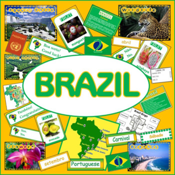 BRAZIL AND PORTUGUESE LANGUAGE CULTURE DIVERSITY RESOURCES DISPLAY GEOGRAPHY