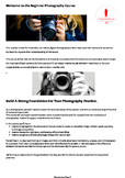 BRB Beginning Photography Course Worknotes