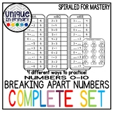 BREAK APART NUMBERS (addition/subtraction/families) under 10
