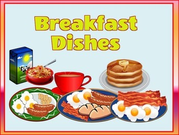 BREAKFAST DISHES FLASHCARDS