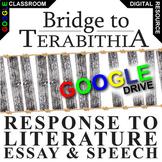 BRIDGE TO TERABITHIA Essay Prompts and Speech w Rubrics (Created for Digital)
