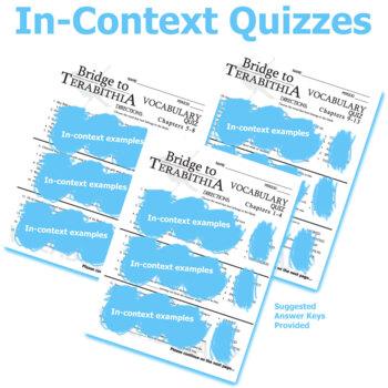 BRIDGE TO TERABITHIA Vocabulary Complete Novel (60 words)