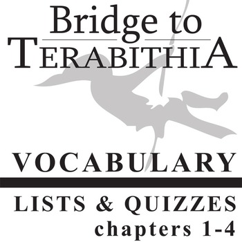 BRIDGE TO TERABITHIA Vocabulary List and Quiz (chapters 1-4)