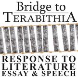 THE BRIDGE TO TERABITHIA Essay Prompts & Grading Rubrics