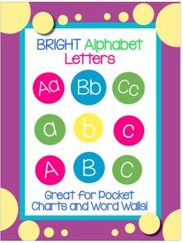 BRIGHT Alphabet Letters