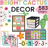 BRIGHT CACTUS Classroom Decoration EDITABLE Classroom Decor