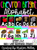 BRIGHT CHEVRON THEME Classroom Decor Posters- Alphabet