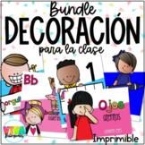 Decoración para la clase | Bright Bilingual Classroom Decor Bundle