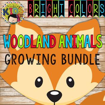 BRIGHT COLORS WOODLAND ANIMALS Growing Bundle