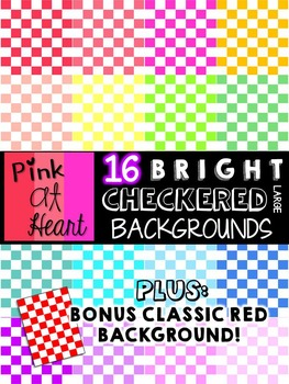 BRIGHT, Checkered Backgrounds (Large)