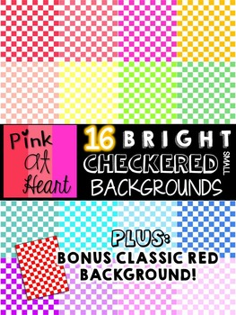BRIGHT, Checkered Backgrounds (Small)
