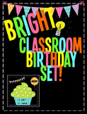 BRIGHT Classroom Birthday Set!